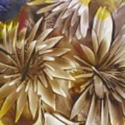 Wood Carved Dahlia Poster