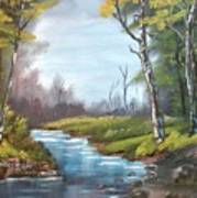 Wooded Stream Poster