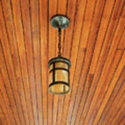 Wooden Ceiling Poster