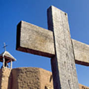 Wooden Cross And Penitente Church Poster