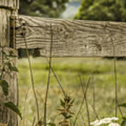 Wooden Fence Post. Poster