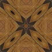 Wooden Maltese Cross Fresco Poster