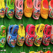 Wooden Shoes From Amsterdam Poster