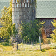 Wooden Silo Poster