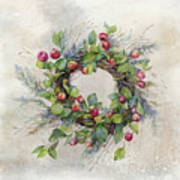 Woodland Berry Wreath Poster