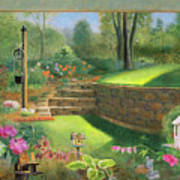 Woodland Garden In A Small Town Poster