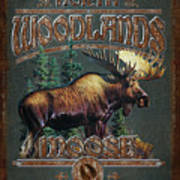 Woodlands Moose Poster