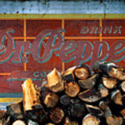 Woodpile With Taste - Dr Pepper Rustic Antique Red Country Southwest Poster