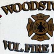 Woodstock Fire Dept Poster