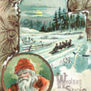 Woolson Spice Company Christmas Card Poster
