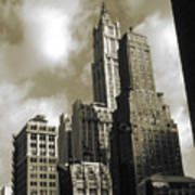 Old New York Photo - Historic Woolworth Building Poster