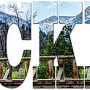 Word Art...the Rockies Poster