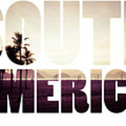 Word South America Copacabana Beach, Rio De Janeiro, Brazil  Poster