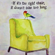 The Right Chair Poster