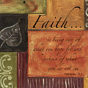 Words To Live By Faith Poster