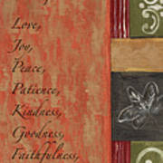 Words To Live By, Fruit Of The Spirit Poster