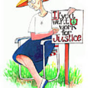 Work For Justice - Mmwfj Poster