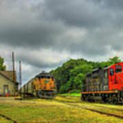 Work Horse Trains 3 Madison Georgia Locomotive Art Poster