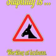 Working Bigstock Donkey 171252860 Poster