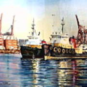Working Boats -seattle  Poster