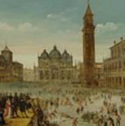 Workshop Of Caullery, Louis De Caulery Circa 1580 - 1621 Antwerp Carnival In Venice. Poster