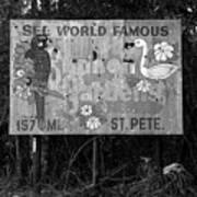 World Famous Sunken Gardens Poster