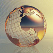 World Global Business Background Poster