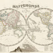 World Map - 1842 Poster