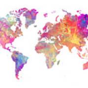 World Map Art Poster