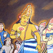 World Renowned Ajanta Painting  Poster