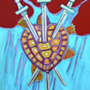 World Turtle Three Of Swords Poster