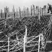 World War I Barbed Wire Poster
