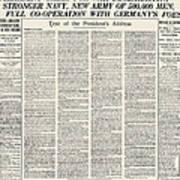 World War I: Declaration Poster