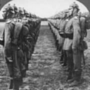 World War I: German Troop Poster by Granger