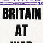 World War I Headline, 1914 Poster