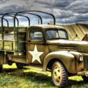 World War II Army Truck Poster