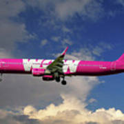 Wow Air Airbus A321-211 Poster