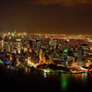 Wow  New York City At Night Poster