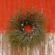 Wreath On The Barn Poster