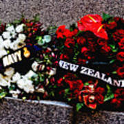 Wreaths From New Zealand And Our Navy Poster