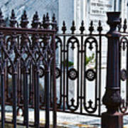 Wrought Iron Cemetery Fence Poster