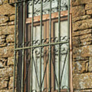 Wrought Iron - Glass - Stone Poster