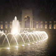 Ww 2 Memorial Fountain Poster