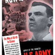 Ww2 Army Recruiting Poster Poster