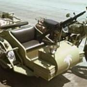 Ww2 German Sidecar And Fuel Trailer Poster