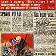 Wwii: Italian Newspaper Poster