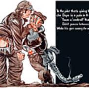 Wwii Joe Dope Cartoon Poster