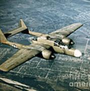 Wwii, Northrop P-61 Black Widow, 1940s Poster