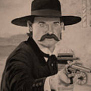 Wyatt Earp - Kurt Russell B And W Poster