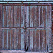 Wyoming Blue Doors Poster
